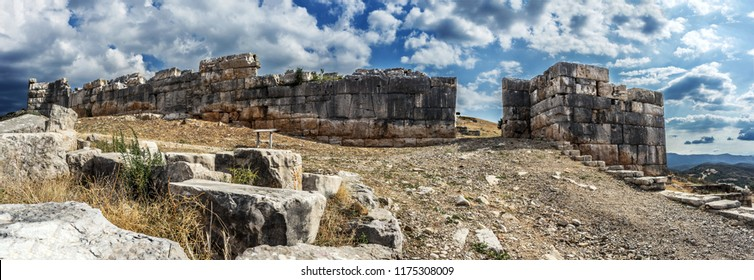 walls of ancient Pleuron.The residents of Plevrona  took part in the war of Troy with 40 ships.Plevrona, whos name can be seen on clay signs, proving its existence and development during the Mycenaean