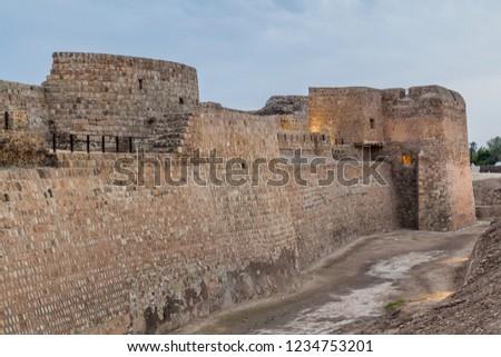Walls Bahrain Fort Qalat Al Bahrain Bahrain Stock Photo