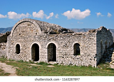 Walls of Berat Castle , also referred to as the Citadel of Berat and castle quarter