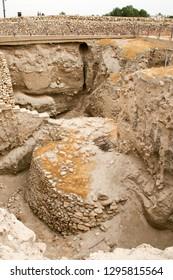 The walls of biblical Jericho