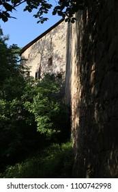 Walls of Buchlov castle, Czech republic