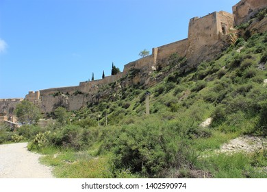 walls of castles in the mountains and cities of Spain