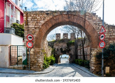 Walls of Constantinople at Ahirkapi District in Istanbul