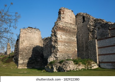 The Walls of Constantinople that protected the city of Constantinople (today Istanbul in Turkey) since its founding by Constantine the Great.