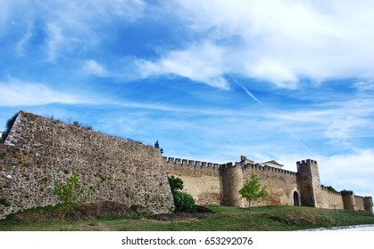 walls  of Estremoz castle, south of Portugal