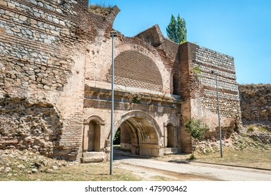 Walls of the Istanbul gate of Nicea ancient city in Iznik, Turkey