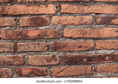 Walls made from ancient bricks More than 200 years old, durable, the art of ancient Thailand, find to rare and very old. It is strong but in good condition.location Ayutthaya province  Thailand.