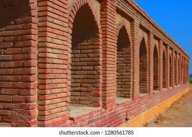 Walls of Makli Graveyard , Thatta , Interior Sindh , Pakistan.