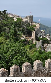 Walls of the medieval castle in Sintra / Castelo dos Mouros