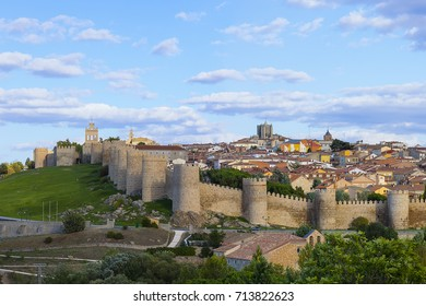 Walls of Medieval city of Avila, Spain