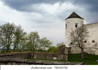 The walls of the old Buchlov Castle in the Czech Republic