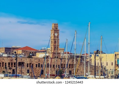 Walls of old city of Acre (Akko), Israel.