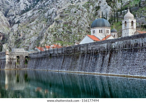 Walls of the old fortress. Kotor, Montenegro