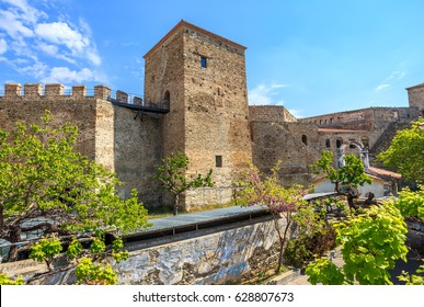walls of old fortress Yedi Koule in Thessaloniki