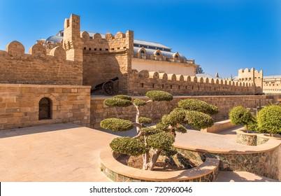 the walls of the old town - Baku Azerbaijan