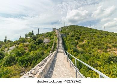 The Walls of Ston in Croatia, Europe