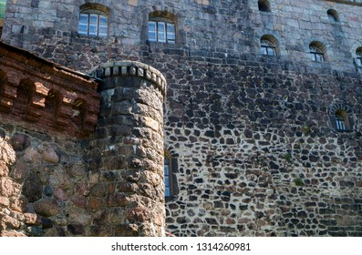 The walls of the Vyborg Castle. Vyborg. RUSSIA JUNE 2017