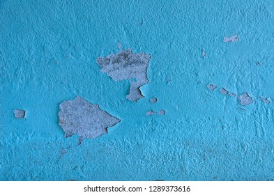 Walls where the wall color is decaying. Wall decay, Background decay. White concrete paint crack wall texture background. - Image