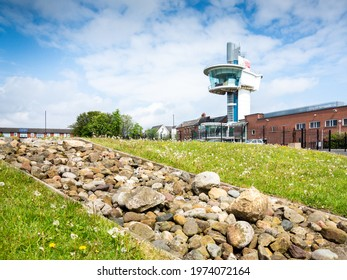 Wallsend, Tyne and Wear, England - May 15 2021: Segedunum Roman museum in Walllsend, in the North East of England