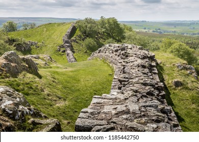 Walltown Quarry and Crags, Hadrian's Wall, Northumberland, England