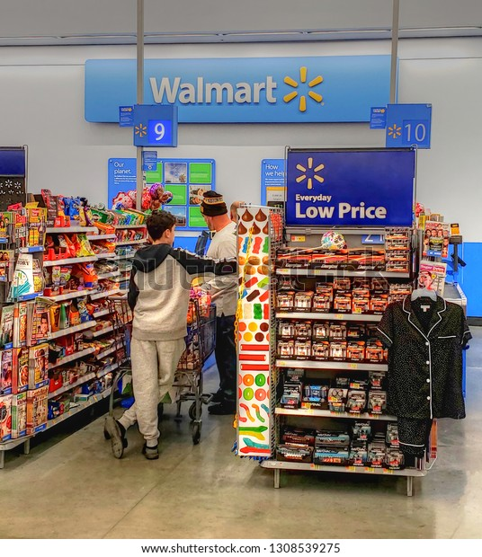 Walmart Retail Store Cashier Check Out Stock Photo Edit Now 1308539275
