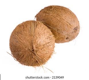 walnut closeup with path on white background