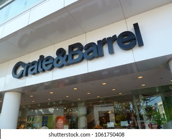 Walnut Creek, CA - May 7, 2012: Crate & Barrel Store. Crate & Barrel is an American chain of retail stores specializing in housewares, furniture and home accessories.