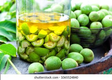 walnut green liqueur
