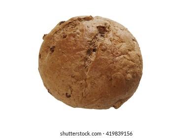 Walnut Loaf ,isolated on white