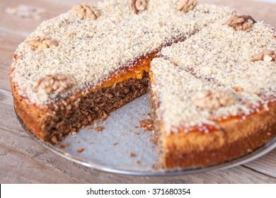 Walnut and Plum Jam Cake