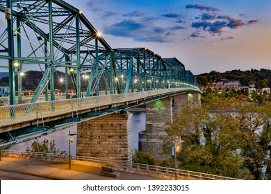 The Walnut street bridge, built in 1890, it was the first to connect Chattanooga, Tennessee's downtown with the North Shore.