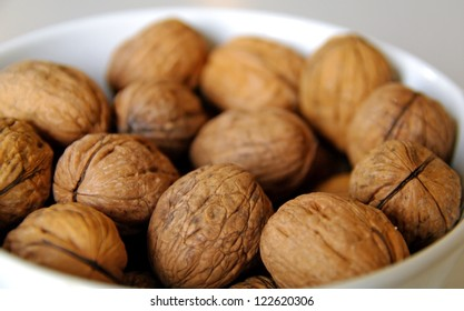 Walnuts in a bowl waiting to be eaten