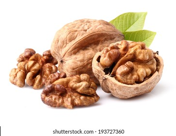 Walnuts in closeup