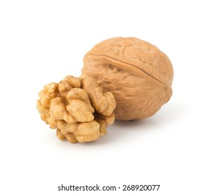 Walnuts isolated on  white background