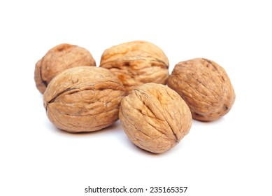 walnuts on isolated background