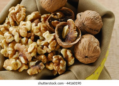 walnuts in sacks