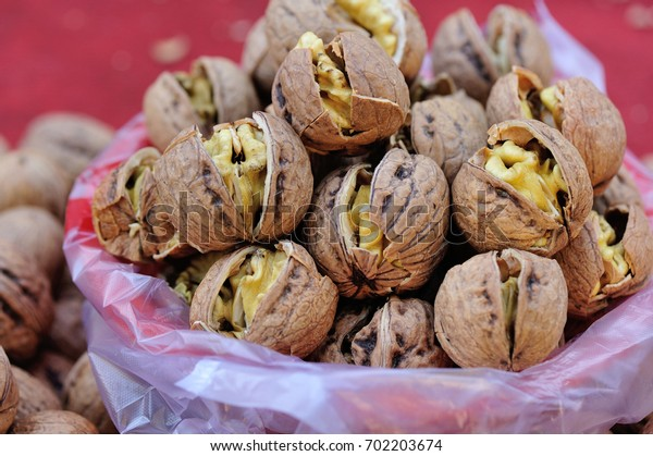 Walnuts for sale at market