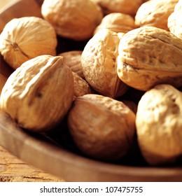 walnuts in sunny lighting
