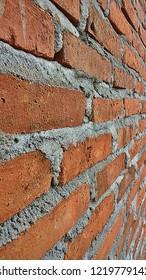 Walpaper red brick vertikal