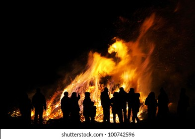 Walpurgis Night bonfire