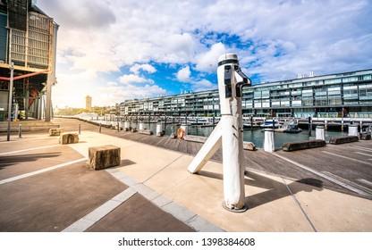 Walsh bay pier view in Sydney NSW Australia