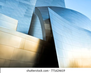 Walt Disney Concert Hall, Modern Architecture Design Building on the 15th August, 2017 - Los Angeles, LA, California, CA, USA