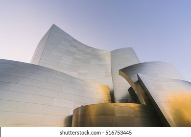 Walt disney concert hall on sunny day,Los Angeles,usa.   -for editorial -07/13/16