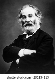 Walt Whitman (1819-1892), photograph by Mathew Brady, 1866