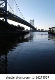 walt whitman bridge from the philadelphia side