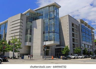 WALTER E. WASHINGTON CONVENTION CENTER, WASHINGTON DC MAY 2017: The 2,300,000 ft2 convention center in Washington D.C., bounded by Mount Vernon Square, 7th, 9th and N streets was completed in 2003