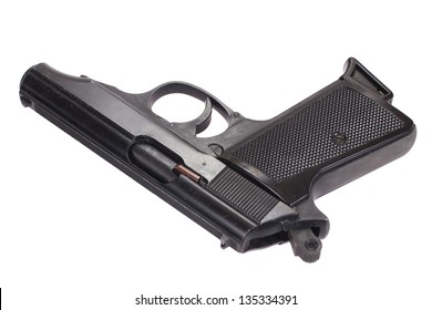 walter pp handgun isolated on white
