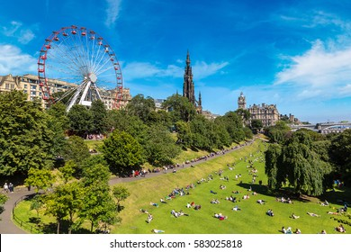 The Walter Scott Monument in Edinburgh in a beautiful summer day, Scotland, United Kingdom