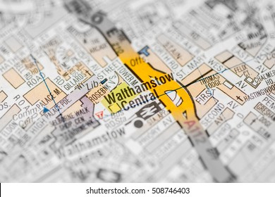 Walthamstow Central. London, UK map.