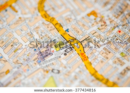 Map Central London Uk.Walthamstow Central London Uk Map Stock Photo Edit Now 377434816